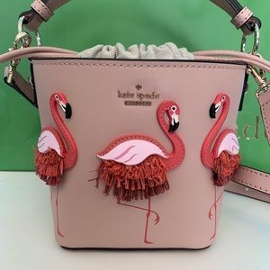 Authentic Kate Spade Flamingo Pippa bucket bag